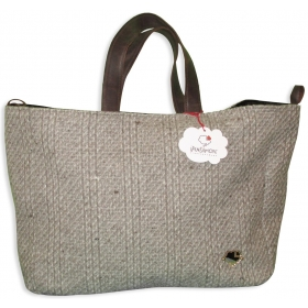 Borsa Iris Marrone double face