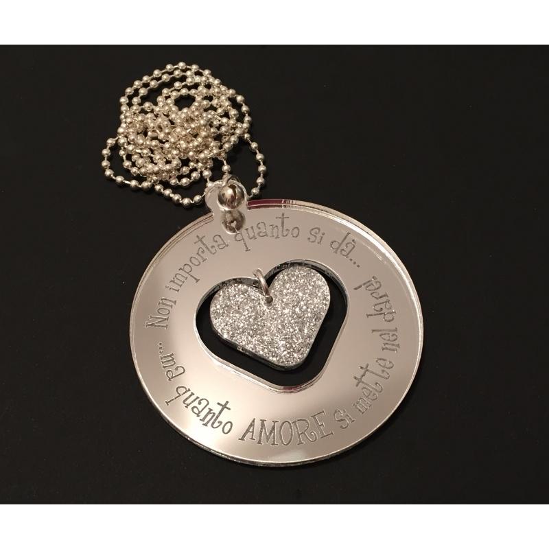 Collana Medal con cuore